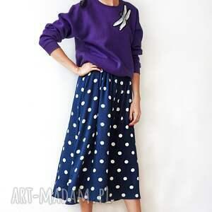 HANKA bluzy oversize fioletowa bluza z ważką