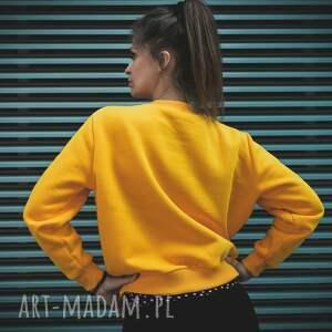 bluza dresowa bluzy kanarkowa żółta