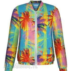 hand made bluzy bawełniana kurtka bomberka jest elementem street style