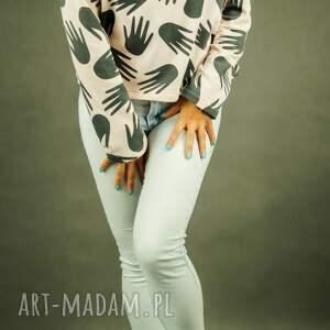 bluzy bluza damska luźna dresowa pudrowy róż
