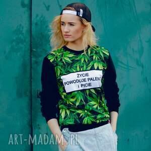 zielone bluzy sportowa modna bluza full print 3d z napisem