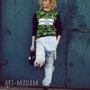 oryginalne bluzy bluza modna full print 3d z napisem