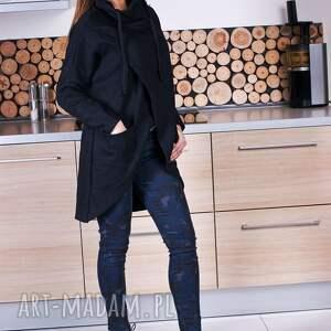 bluzy asymetryczna modna damska czarna