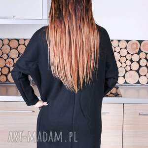 ręcznie zrobione bluzy asymetryczna modna damska czarna