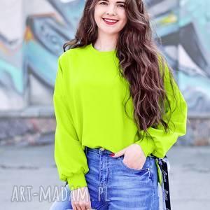 luźna bluzy neonowa bluza z dłuzszym