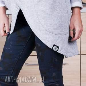 asymetryczna bluzy unikatowa szara bluza