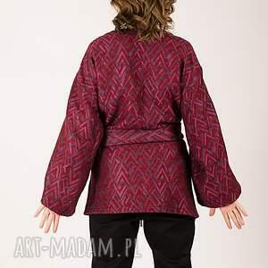 wyjątkowe bluzy wełniana narzutka w pleciony wzór