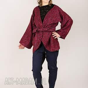 wyjątkowe bluzy fioletowy wełniana narzutka w pleciony wzór