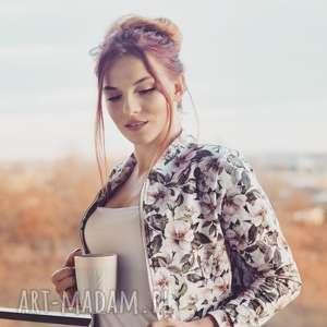 hand made bluzy flora zjawiskowa kurtka bomberka damska