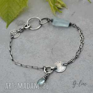 niebieskie srebro akwamaryn. delikatna srebrna