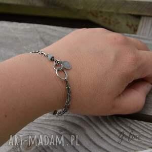intrygujące srebro akwamaryn pastylka. surowa srebrna