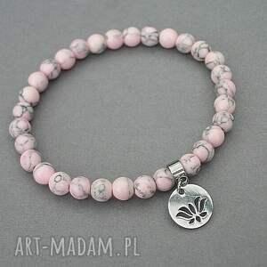 efektowne bransoletki kamienie alloys collection /sweet pink/