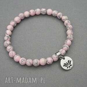 szare bransoletki minerały alloys collection /sweet pink/