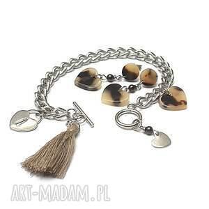 stal szlachetna beżowe alloys collection /chain/ heart