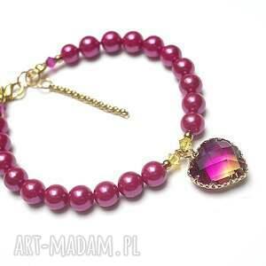 hand made stal szlachetna alloys collection /heart fuksja /