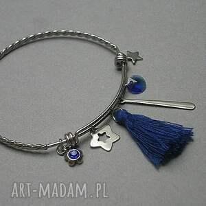 niebieskie bransoletki stal alloys collection - gypsy