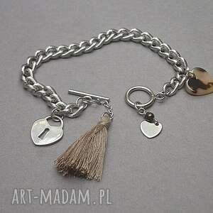 brązowe żywica alloys collection /chain/ heart