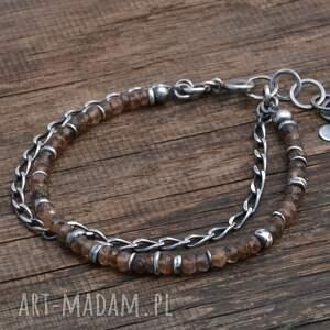 minerały bransoletki andaluzyt. srebrna bransoletka
