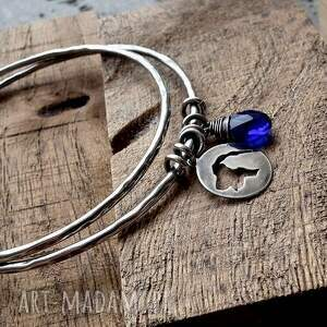niebieskie bransoletki z-psem animals- 2 bransoletki- srebro