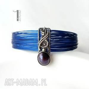 wirewrapping bransoletki niebieskie arachne - odonata bransoleta