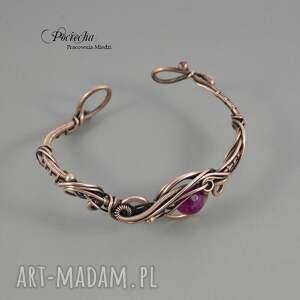 handmade bransoletki bransoletka asymetria - z agatem