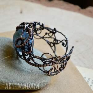 wire wrapping aura - bransoletka z kwarcem