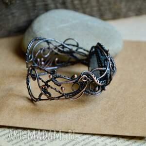 turkusowe bransoletka kwarc piękna bogato zdobiona z surowym