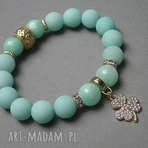 hand-made bransoletki jadeity baby blue clover /30-08-17/