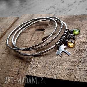 ręcznie zrobione bransoletki kolorowa bahama - 3 bransoletki- srebro