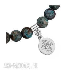 ręcznie zrobione bransoletki jaspis bansoletka z jaspisu ze srebrną