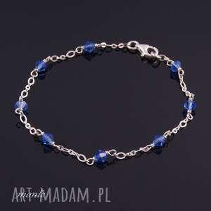 niebieskie bransoletki bransoletka bardzo delikatne sapphire