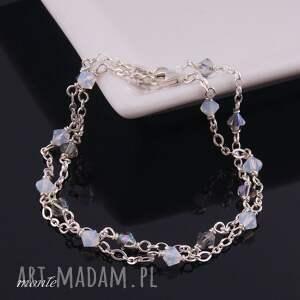 białe bransoletki biała bardzo delikatne white opal