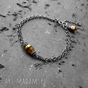 Cocopunk Baroque - bransoletka srebro i perły - Ręcznie zrobione z perełką