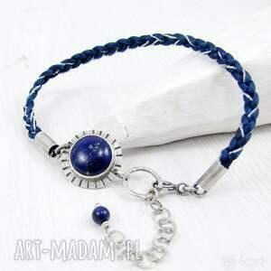 nietypowe boho barwne warkocze z lapisem lazuli