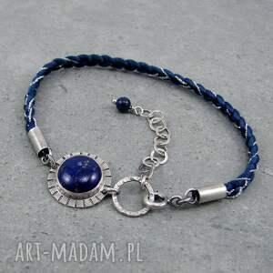 folk barwne warkocze z lapisem lazuli