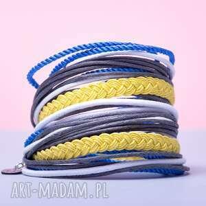 niebieskie bransoletki sznurkowa whw big mess - lemon sorbet