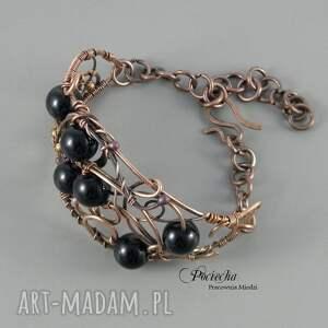 czarny bransoletki black, bransoletka w eleganckim