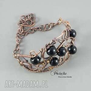 czarne bransoletki bransoletka black, w eleganckim