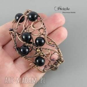 bransoletki czarny black, bransoletka w eleganckim