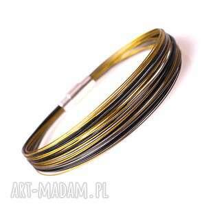 hand made elegancka black gold silver