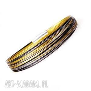 złote prostotoa black gold silver slim