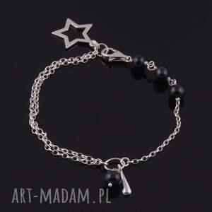 naturalna bransoletki black star, bransoletka z czarnych