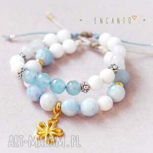 bransoletki kamienie blue and white