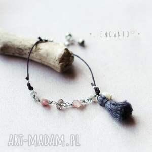 białe bransoletki perła *bohemian minimalist*