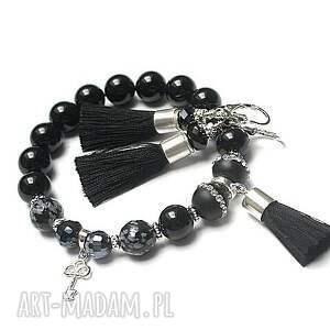 czarne bransoletki srebro boho noir - bransoletka
