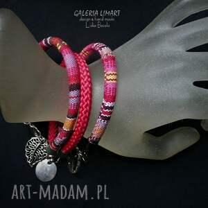 Galeria Limart BOHO style. Komplet modnych bransoletek, 3 sztuki hand made - ręcznie