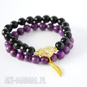 marmur bracelet by sis: złote piórko