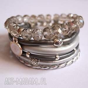 wyjątkowe bransoletki rzemienie bransoleta fifty shades of silver