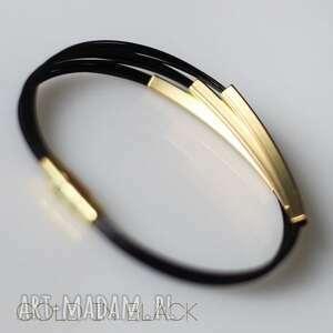 prosta bransoletki bransoleta gold in black