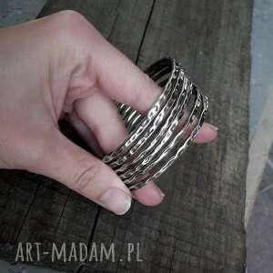 bransoletki bangle bransoleta okrągła - srebro